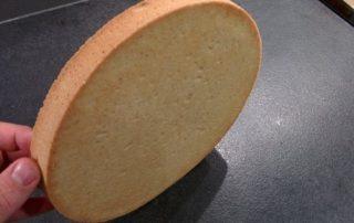pâte sucrée correctement foncée et cuite