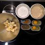 Préparer tous les ingrédients pour réaliser la crème d'amande