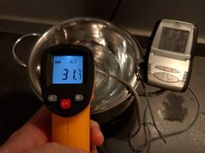 Parfait, on est entre 31 et 32°C après une nuit de test !