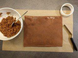 Biscuit chocolat pour entremet