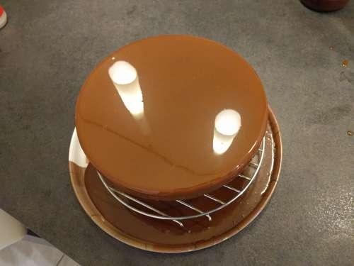 glacage chocolat au lait caramel