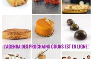 Agenda des prochains cours de pâtisserie à Toulouse et Paris avec Johan