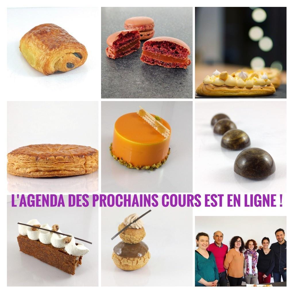 Agenda des prochains cours de pâtisserie à Toulouse avec Johan