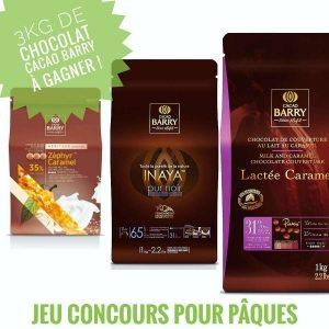 Jeu concours Pâques : 3kg de chocolat de couverture Cacao Barry à gagner !