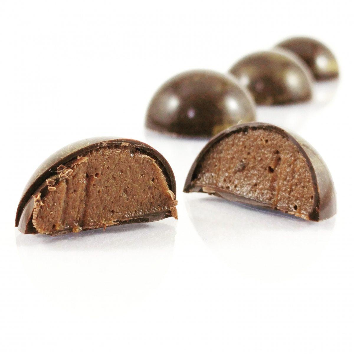 Bonbon chocolat banane caramel