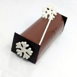 Bûche poire chocolat caramel