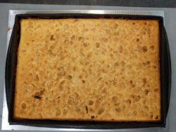 Biscuit moelleux à l'amande, noix de coco et noix de macadamia cuit :