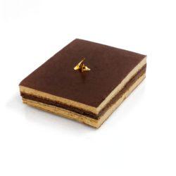 Recette de l'opéra : gâteau entremets au café et chocolat