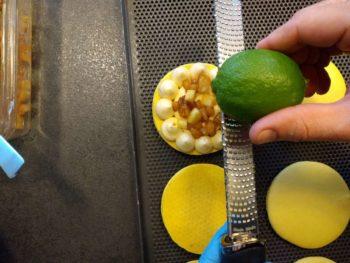 Puis un peu de zeste de citron vert