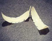 Plume en chocolat blanc