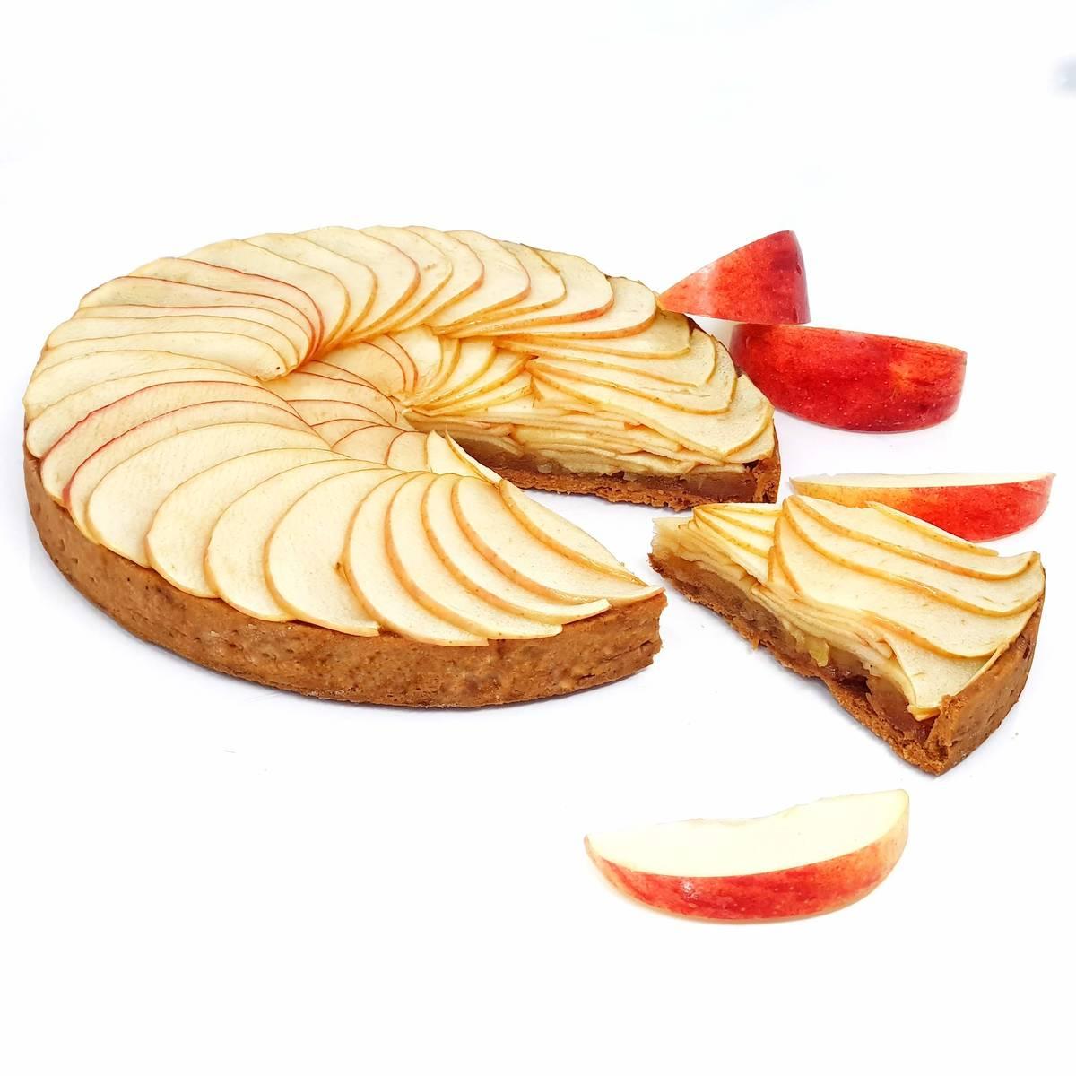 Tarte aux pommes facile (façon Normande, avec de la compote de pommes)