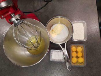 Préparer les ingrédients pour cette recette de biscuit pâte à choux