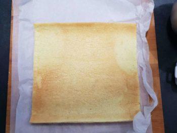 Dérouler votre biscuit pâte à choux