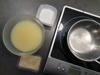 Préparer tous les ingrédients pour cette mousse au citron