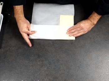 Plier pour définir un rectangle un peu plus grand que le beurre