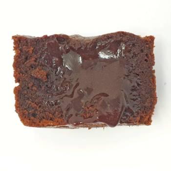 Résultat du coulant au chocolat après 14 min de cuisson à 180°C pour un cercle de 7 cm