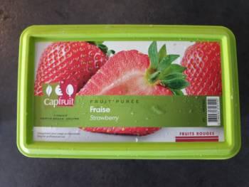 Pour cette recette, j'utilise de la purée de fraise Capfruit