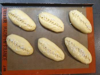 Voilà, les pains au lait sont prêts à cuire