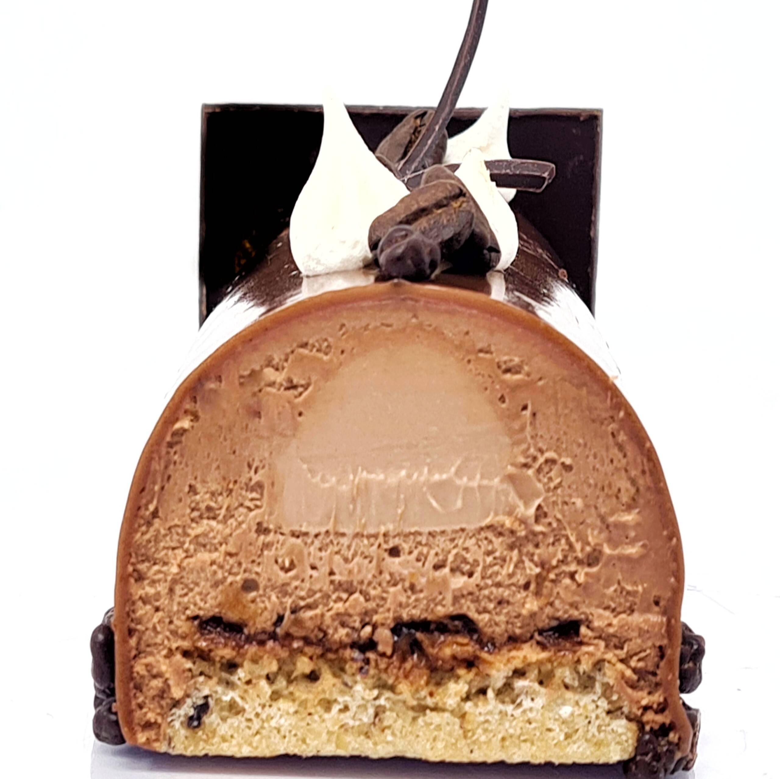Bûche Cappuccino (chocolat & café doux)