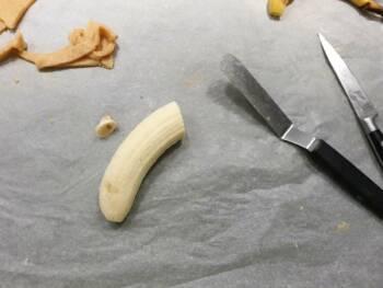 optionnel : trancher une banane