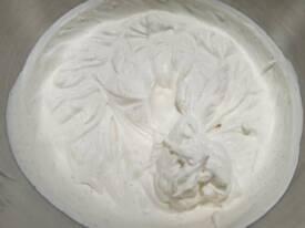 Arrêter quand vous avez cette belle texture de crème chantilly